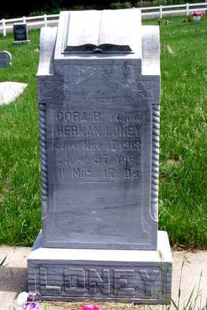 LONEY, CORA B. - Knox County, Nebraska   CORA B. LONEY - Nebraska Gravestone Photos