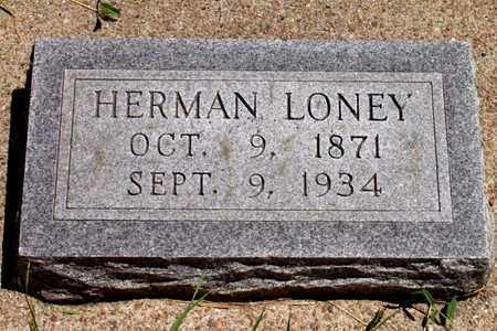 LONEY, HERMAN - Knox County, Nebraska | HERMAN LONEY - Nebraska Gravestone Photos