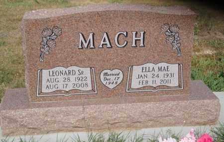 "MACH, ELLA MAE ""TINA"" - Knox County, Nebraska | ELLA MAE ""TINA"" MACH - Nebraska Gravestone Photos"