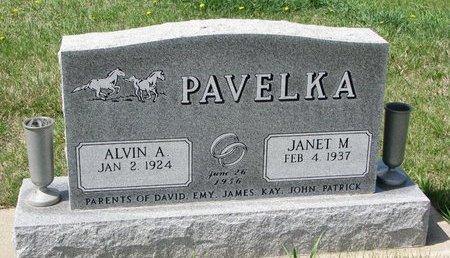 PAVELKA, ALVIN A. - Knox County, Nebraska | ALVIN A. PAVELKA - Nebraska Gravestone Photos