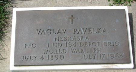 PAVELKA, VACLAV (MILITARY) - Knox County, Nebraska | VACLAV (MILITARY) PAVELKA - Nebraska Gravestone Photos