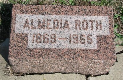 DUNLAP ROTH, ALMEDIA - Knox County, Nebraska | ALMEDIA DUNLAP ROTH - Nebraska Gravestone Photos