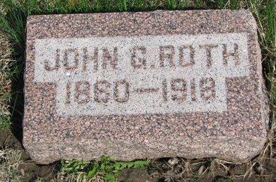 ROTH, JOHN G. - Knox County, Nebraska | JOHN G. ROTH - Nebraska Gravestone Photos