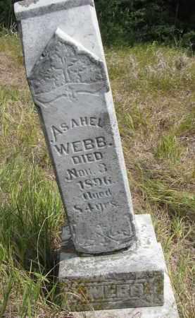 WEBB, ASAHEL - Knox County, Nebraska | ASAHEL WEBB - Nebraska Gravestone Photos