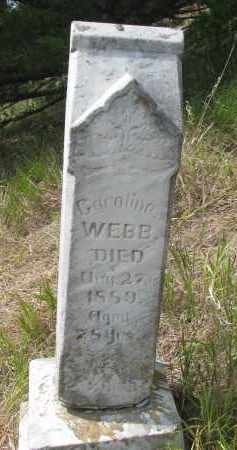 WEBB, CAROLINE - Knox County, Nebraska | CAROLINE WEBB - Nebraska Gravestone Photos
