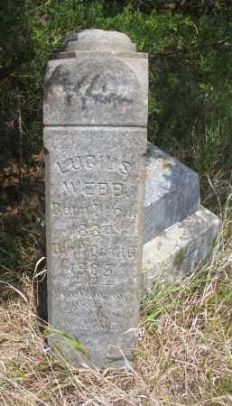 WEBB, LUCIUS - Knox County, Nebraska | LUCIUS WEBB - Nebraska Gravestone Photos
