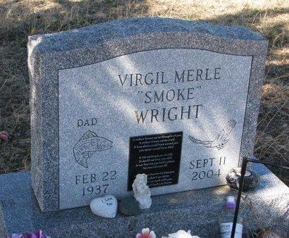 "WRIGHT, VIRGIL MERLE ""SMOKE"" - Knox County, Nebraska | VIRGIL MERLE ""SMOKE"" WRIGHT - Nebraska Gravestone Photos"