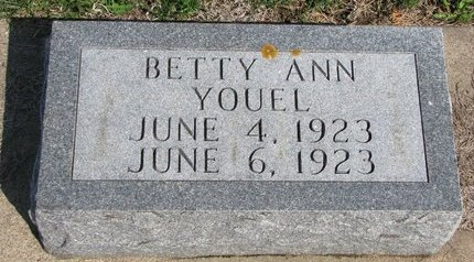 YOUEL, BETTY ANN - Knox County, Nebraska | BETTY ANN YOUEL - Nebraska Gravestone Photos