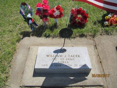 "ZACEK, WILLIAM ""BILL"" JEROME - Knox County, Nebraska | WILLIAM ""BILL"" JEROME ZACEK - Nebraska Gravestone Photos"