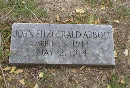 ABBOTT, JOHN FITZGERALD - Lancaster County, Nebraska | JOHN FITZGERALD ABBOTT - Nebraska Gravestone Photos