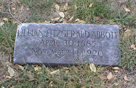 FITZGERALD ABBOTT, LILLIAN - Lancaster County, Nebraska | LILLIAN FITZGERALD ABBOTT - Nebraska Gravestone Photos