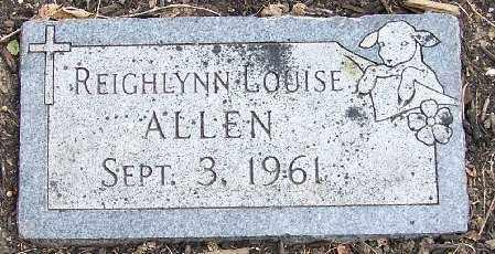 ALLEN, REIGHLYNN LOUISE - Lancaster County, Nebraska | REIGHLYNN LOUISE ALLEN - Nebraska Gravestone Photos
