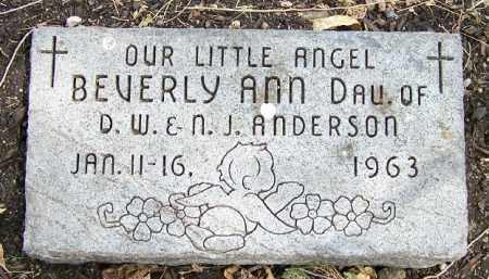 ANDERSON, BEVERLY ANN - Lancaster County, Nebraska | BEVERLY ANN ANDERSON - Nebraska Gravestone Photos