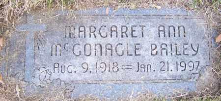 BAILEY, MARGARET ANN - Lancaster County, Nebraska | MARGARET ANN BAILEY - Nebraska Gravestone Photos