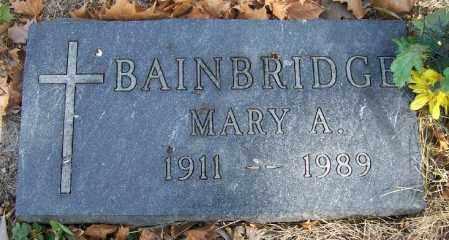 BAINBRIDGE, MARY A. - Lancaster County, Nebraska | MARY A. BAINBRIDGE - Nebraska Gravestone Photos
