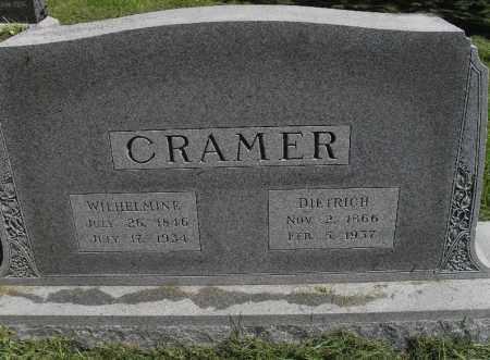 CRAMER, WILHELMINE - Lancaster County, Nebraska   WILHELMINE CRAMER - Nebraska Gravestone Photos