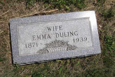 DULING, EMMA - Lancaster County, Nebraska   EMMA DULING - Nebraska Gravestone Photos