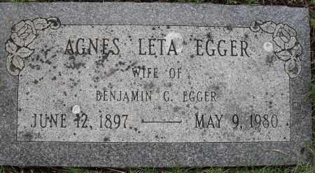 EGGER, AGNES LETA - Lancaster County, Nebraska   AGNES LETA EGGER - Nebraska Gravestone Photos