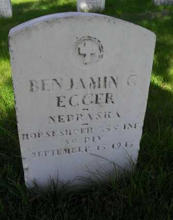 EGGER, BENJAMIN G - Lancaster County, Nebraska | BENJAMIN G EGGER - Nebraska Gravestone Photos