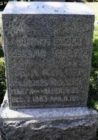 EGGER, MARY A - Lancaster County, Nebraska | MARY A EGGER - Nebraska Gravestone Photos