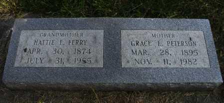PETERSON, GRACE E - Lancaster County, Nebraska | GRACE E PETERSON - Nebraska Gravestone Photos