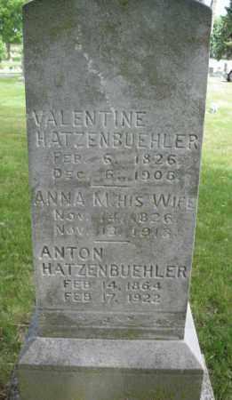 HATZENBUEHLER, ANNA M. - Lancaster County, Nebraska | ANNA M. HATZENBUEHLER - Nebraska Gravestone Photos