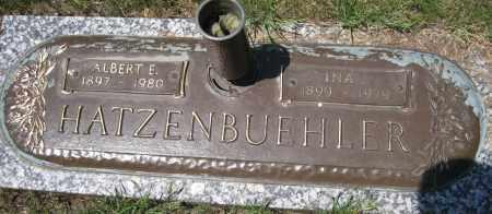 HATZENBUEHLER, ALBERT E. - Lancaster County, Nebraska | ALBERT E. HATZENBUEHLER - Nebraska Gravestone Photos