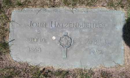 HATZENBUEHLER, JOHN - Lancaster County, Nebraska   JOHN HATZENBUEHLER - Nebraska Gravestone Photos