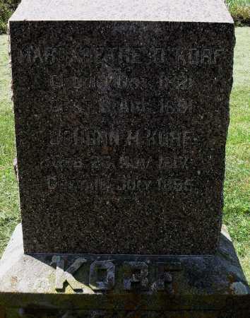 KORF, JOHONN H - Lancaster County, Nebraska | JOHONN H KORF - Nebraska Gravestone Photos