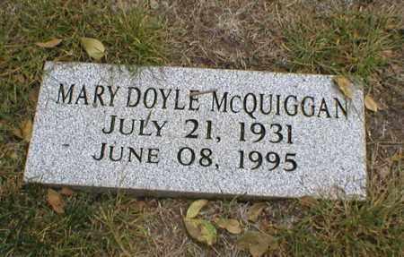 DOYLE MCQUIGGAN, MARY - Lancaster County, Nebraska   MARY DOYLE MCQUIGGAN - Nebraska Gravestone Photos