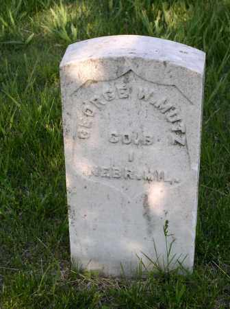 MUTZ, GEORGE W. - Lancaster County, Nebraska | GEORGE W. MUTZ - Nebraska Gravestone Photos