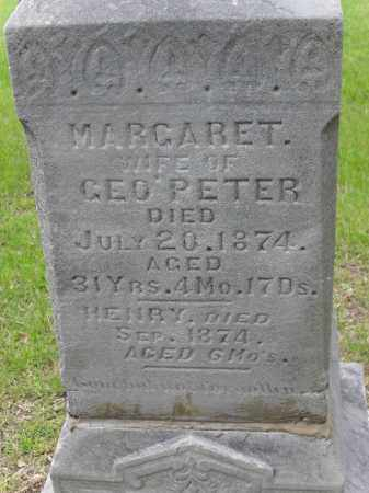 PETER, MARGARET - Lancaster County, Nebraska   MARGARET PETER - Nebraska Gravestone Photos