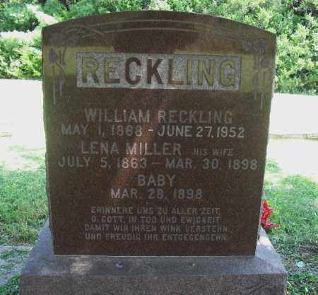 RECKLING, WILLIAM - Lancaster County, Nebraska | WILLIAM RECKLING - Nebraska Gravestone Photos