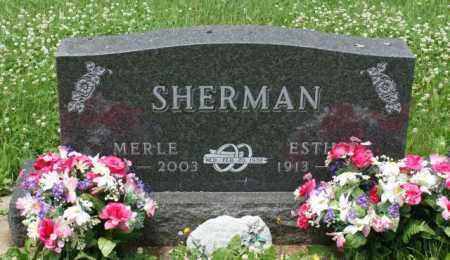 SHERMAN, ESTHER - Lancaster County, Nebraska | ESTHER SHERMAN - Nebraska Gravestone Photos