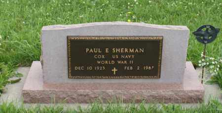 SHERMAN, PAUL E. - Lancaster County, Nebraska | PAUL E. SHERMAN - Nebraska Gravestone Photos