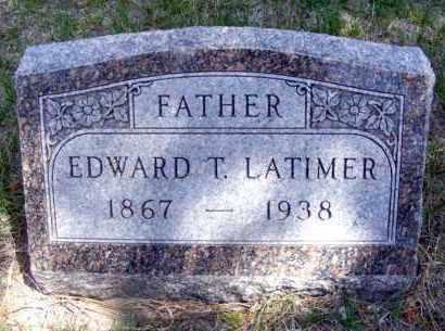 LATIMER, EDWARD T. - Lincoln County, Nebraska | EDWARD T. LATIMER - Nebraska Gravestone Photos