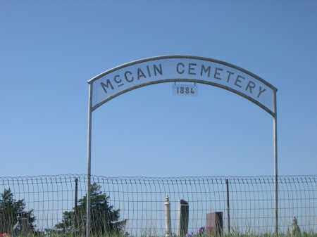 *MCCAIN CEMETERY, SIGN FOR - Logan County, Nebraska | SIGN FOR *MCCAIN CEMETERY - Nebraska Gravestone Photos