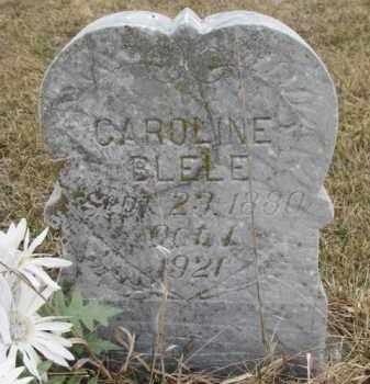 BLELE, CAROLINE - Madison County, Nebraska   CAROLINE BLELE - Nebraska Gravestone Photos