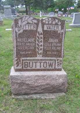 LUEBKE BUTTOW, JOHANN & WILHELMINE - Madison County, Nebraska | JOHANN & WILHELMINE LUEBKE BUTTOW - Nebraska Gravestone Photos