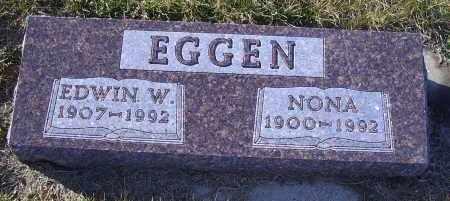 EGGEN, EDWIN W. - Madison County, Nebraska   EDWIN W. EGGEN - Nebraska Gravestone Photos