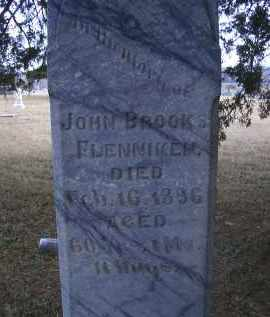 FLENNIKEN, JOHN BROOKS - Madison County, Nebraska | JOHN BROOKS FLENNIKEN - Nebraska Gravestone Photos