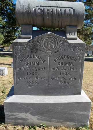 GRIMM, WILHELMINE - Madison County, Nebraska | WILHELMINE GRIMM - Nebraska Gravestone Photos