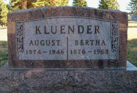 KORTH KLUENDER, BERTHA - Madison County, Nebraska | BERTHA KORTH KLUENDER - Nebraska Gravestone Photos