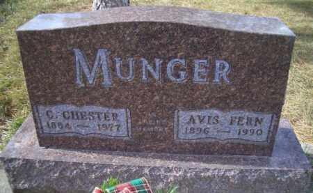 MUNGER, C CHESTER - Madison County, Nebraska | C CHESTER MUNGER - Nebraska Gravestone Photos