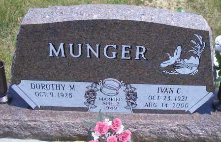 MUNGER, IVAN C. - Madison County, Nebraska   IVAN C. MUNGER - Nebraska Gravestone Photos