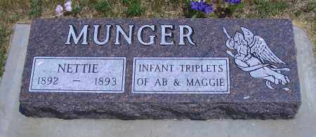 MUNGER, NETTIE - Madison County, Nebraska | NETTIE MUNGER - Nebraska Gravestone Photos