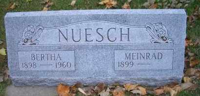 NUESCH, BERTHA - Madison County, Nebraska | BERTHA NUESCH - Nebraska Gravestone Photos