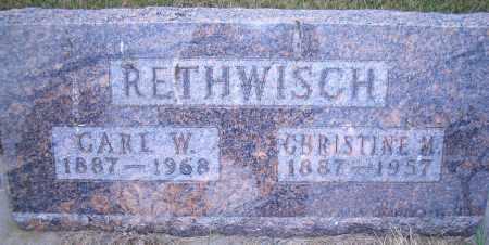 RETHWISCH, CARL W - Madison County, Nebraska | CARL W RETHWISCH - Nebraska Gravestone Photos