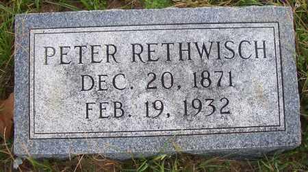RETHWISCH, PETER - Madison County, Nebraska | PETER RETHWISCH - Nebraska Gravestone Photos