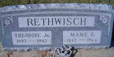 RETHWISCH, MAME E - Madison County, Nebraska   MAME E RETHWISCH - Nebraska Gravestone Photos